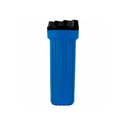 """10"""" Residential Blue/Black Plastic Filter Housing 1/4"""" Port - Pkg Qty 12"""