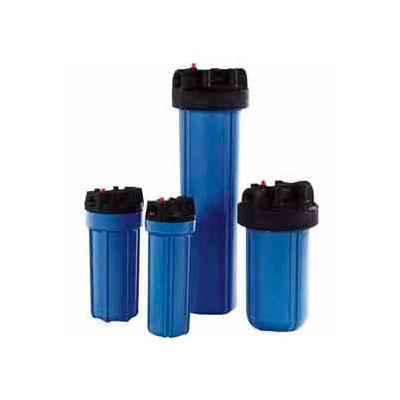 "10"" Residential Blue/Black Plastic Filter Housing 3/4"" Port Pressure Release - Pkg Qty 12"