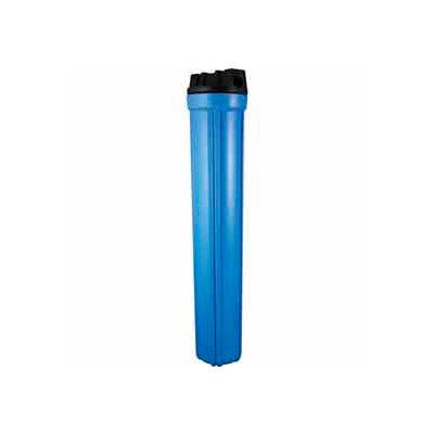"20"" Residential Blue/Black Plastic Filter Housing 1/2"" Port Pressure Release - Pkg Qty 6"
