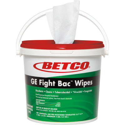 Betco GE Fight Bac™ Disinfecting Wipes, 1500 Wipes Per Bucket