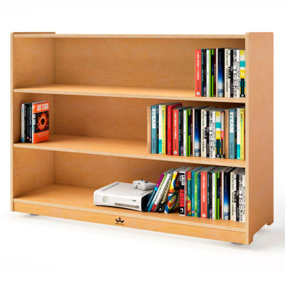 """Whitney Brothers 36"""" Tall Mobile Adjustable Shelf Cabinet"""