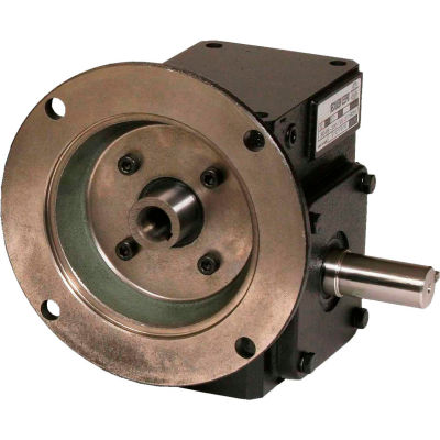 Worldwide HdRF206-15/1-R-56C Cast Iron Right Angle Worm Gear Reducer 15:1 Ratio 56C Frame
