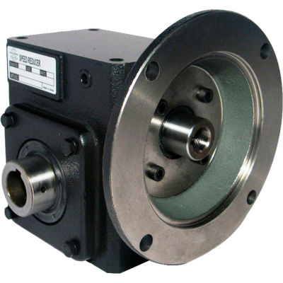 Worldwide HdRF206-5/1-H-56C Cast Iron Right Angle Worm Gear Reducer 5:1 Ratio 56C Frame