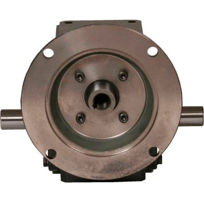 Worldwide HdRF237-15/1-DE-56C Cast Iron Right Angle Worm Gear Reducer 15:1 Ratio 56C Frame