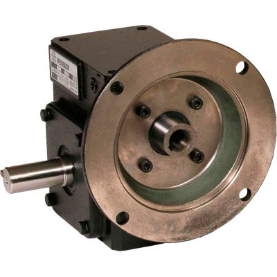Worldwide HdRF325-50/1-L-56C Cast Iron Right Angle Worm Gear Reducer 50:1 Ratio 56C Frame