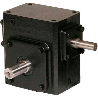 Worldwide HdRS206-50/1-L Cast Iron Right Angle Worm Gear Reducer 50:1 Ratio