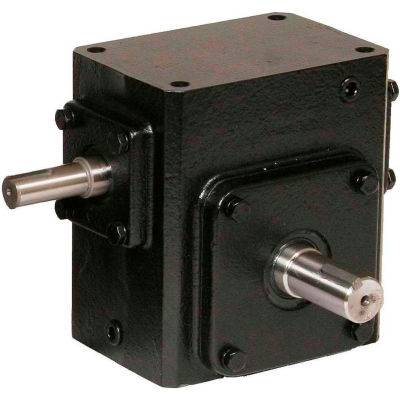 Worldwide HdRS262-5/1-R Cast Iron Right Angle Worm Gear Reducer 5:1 Ratio
