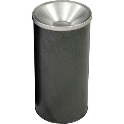 Granite Pre-Galvanized Round Steel Ash Urn, Silver Vein - 2000SVN