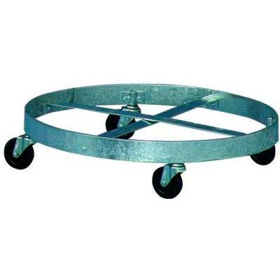 "Drum Dolly 24"" Diameter 4 Casters, Galvanized Steel - DD-200"
