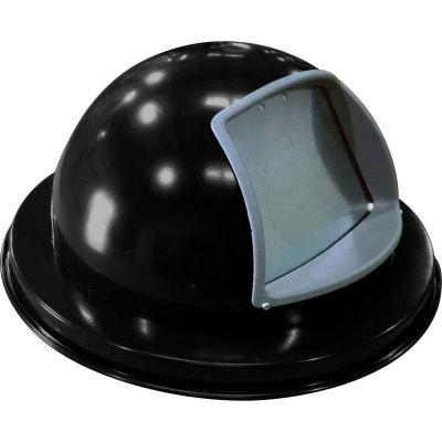 "Metal Dome Top Lid 18-3/4"" Diameter, Black - M2401-DTL-BK"