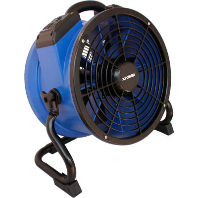 XPOWER Industrial Axial Fan With Daisy Chain, Variable Speed, 1/4 HP, 1720 CFM