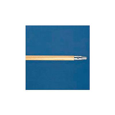 "60"" Metal-Tip Threaded End Hardwood Broom Handle - BWK136"