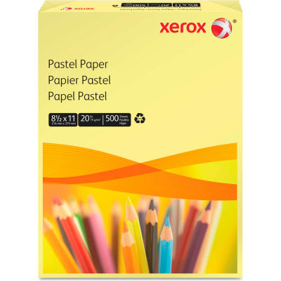 """Colored Paper - Xerox 3R11053 - Yellow - 8-1/2"""" x 11"""" - 500 Sheets"""