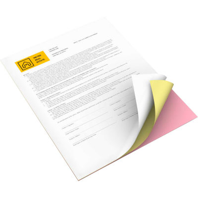 Xerox® Bold Digital Carbonless Paper - XER3R12424 - 8-1/2 x 11 - Pink/Canary/White 5010 Sheets