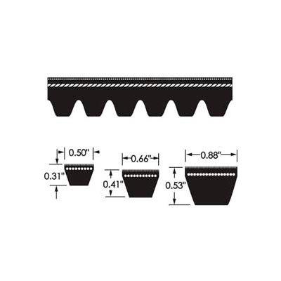 ContiTech Torque-Flex Belt, Cogged, Ax55