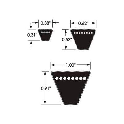 ContiTech Hy-T® Wedge Belt, Non Cogged, 5v1320