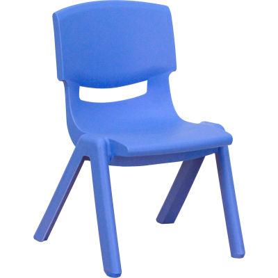 Flash Furniture Stackable School Chair - Plastic - Blue