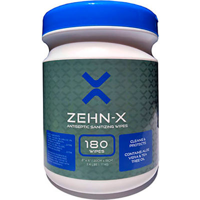 Zehn-X Antiseptic Sanitizing Disinfecting Wipes - 180 Count Canisters - 12 Canisters per Case