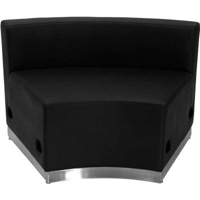 Flash Furniture Concave Armless Modular Lounge Chair - Leather - Black - Hercules Alon Series