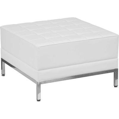 Flash Furniture Modular Lounge Ottoman - Leather - Melrose White - Hercules Imagination Series
