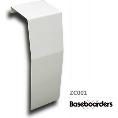 Baseboarders® Premium Series Steel Easy Slip-on Baseboard Zero Clearance Endcap, White
