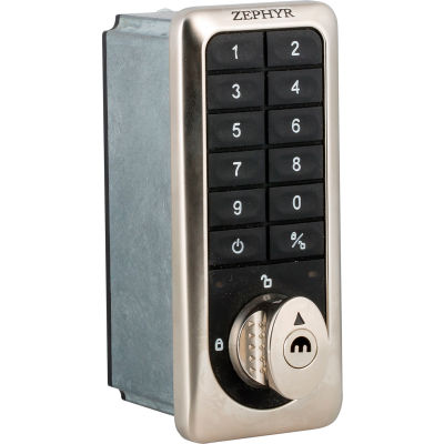 Zephyr RFID Electronic Locker Lock 6210 Keypad and Card Access Option - Vertical Keypad