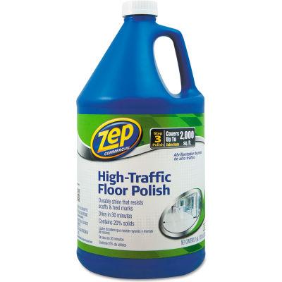 Zep® Commercial High Traffic Floor Polish, 1 Gallon Bottle - ZUHTFF128EA