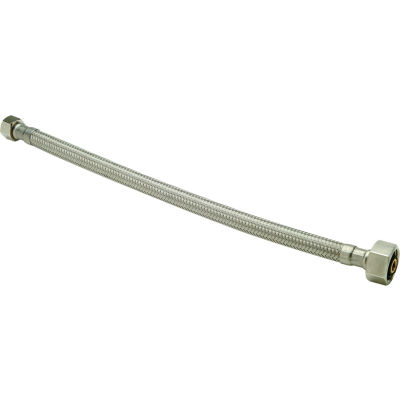 Zurn Z8860-XL-16-SS Faucet Supply 3/8 In. Compression X 1/2 In. F.I.P. X 16 In. - Braided SS