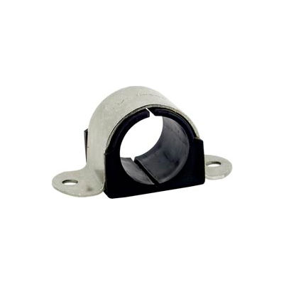 """1/2"""" Tube Od Stainless Steel Omega Cushion Clamp - Pkg Qty 25"""