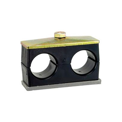 """1/4"""" P Clamp Assembly For Two Hoses Pipe or Tube Lines"""