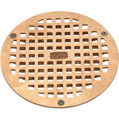 "Zurn 8"" Dia. Round Floor Drain W/Screws, Brass"