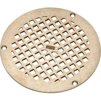 "Zurn 8"" Dia. Round Floor Drain W/Screws, Nickel"