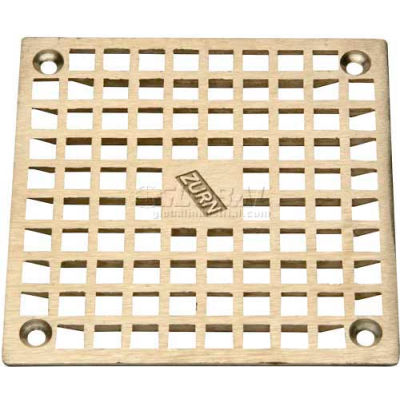 "Zurn 9"" x 9"" Square Floor Drain W/Screws, Nickel"