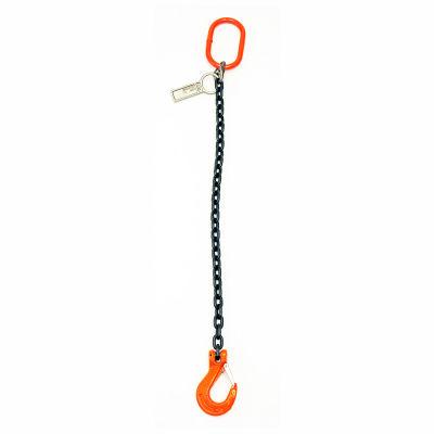 Mazzella Lifting B151032 20' Single Leg Chain Sling W/ Sling Hook