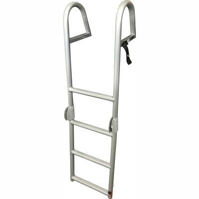 Bearcat 4 Step Rear Entry Pontoon Ladder - LREBCRD2