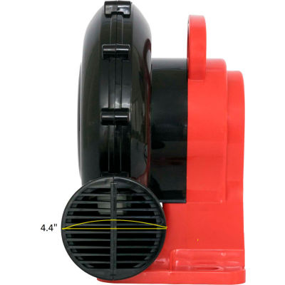 XPOWER Inflatable Bounce House Blower, 1 Speed, 1/4 HP, 380 CFM