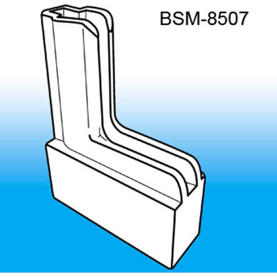"Boot System™ Magnetic Base Sign Holder System, 1/2""L x 2-1/4""W, White - Pkg Qty 100"