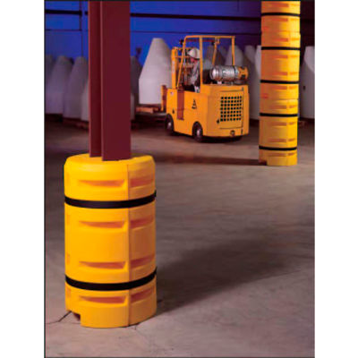 "Column Sentry® Column Protector, 30"" Diameter Round Opening, 44"" O.D. x 42""H, Yellow"