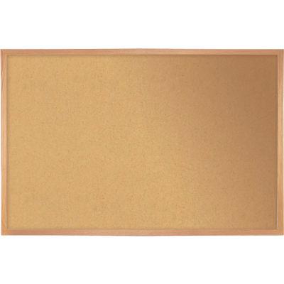 "Ghent Bulletin Board - Cork - Wood Frame - 36"" x 46.5"" - Natural"
