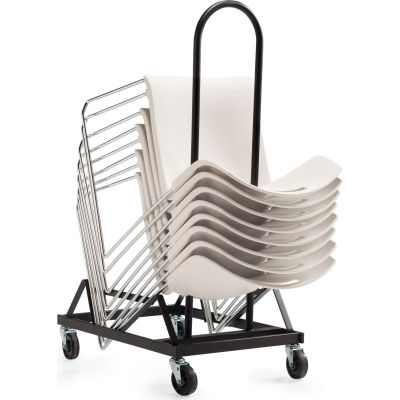 Global™ Chair Dolly for Popcorn Series Stacking Chair - Stacks Up to 34 Chairs