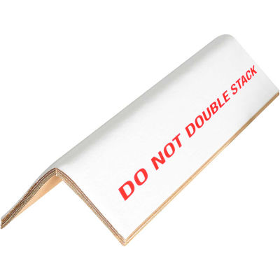 """Global Industrial™ """"Do Not Stack"""" Edge Protectors, 3""""W x 3""""D x 48""""L, .16"""" Thick, White - Pkg Qty 1600"""
