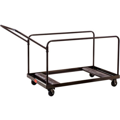 Interion® Multi-Use Table Transport Dolly Cart - Brown - 10 Table Capacity