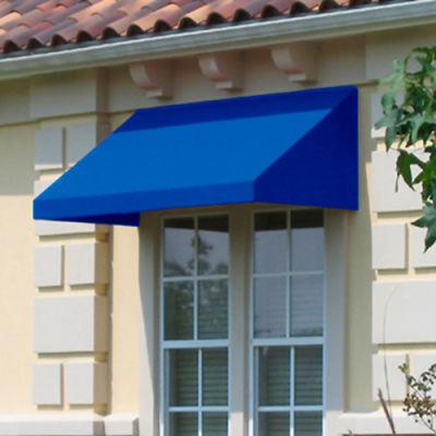 """Awntech EN23-8BB, Window/Entry Awning 8' 4-1/2"""" W x 3'D x 2'H Bright Blue"""