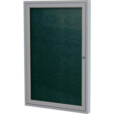 "Ghent Enclosed Bulletin Board - Outdoor / Indoor - Vinyl - 36"" x 30"" H - Black"