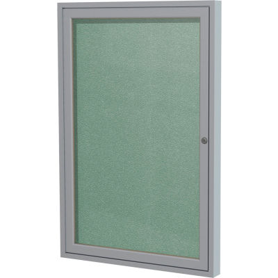 "Ghent Enclosed Bulletin Board - Outdoor / Indoor - Vinyl - 36"" x 24"" - Mint"