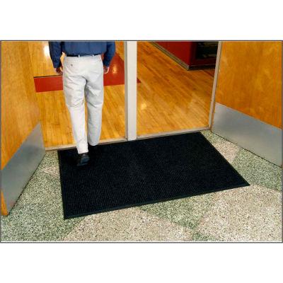 "WaterHog® Entrance Mat Fashion Border 3/8"" Thick 3' x 12' Charcoal"
