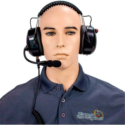 RCA HS65NR-X03 High Noise Reduction Two-Way Radio Headset, Over the Head, Dual Muff