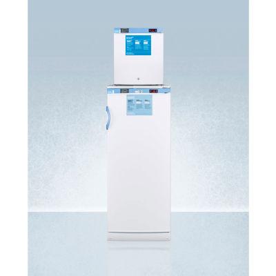 Summit FFAR10-FS24LSTACKMED2 Medical Refrigerator-Freezer Stacked Combination, 11.5 Cu.Ft. Capacity