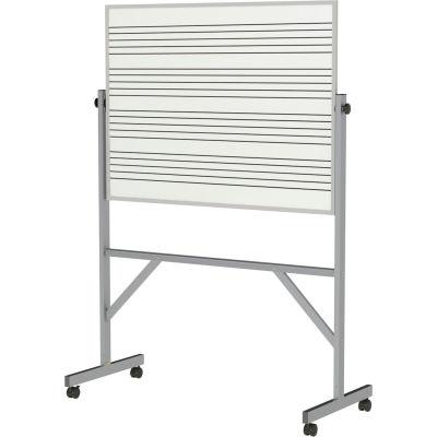 "Ghent Reversible Whiteboard - Porcelain  - Music Staff Graphics - 78"" x 53"" - Aluminum"