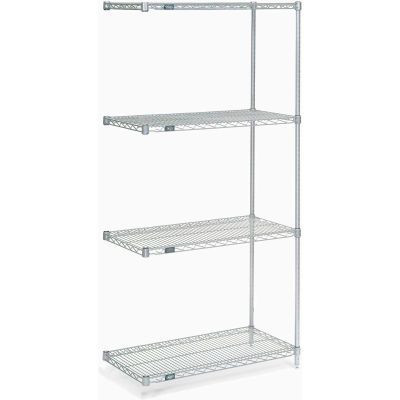 "Nexel® Poly-Z-Brite® Wire Shelving Add-On 42""W x 24""D x 74""H"